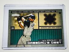Buy MLB LUIS GONZALEZ DIAMONDBACKS 2002 FLEER GAME WORN JERSEY RELIC MINT