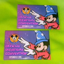 Buy VINTAGE LOT OF 2 1994 DISNEY OFFICIAL CONVENTION 3 IN PINBACK BUTTONS MNT