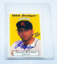 Buy MLB TRAVIS BAPTIST AUTOGRAPHED 1994 T-96 SERIES OLD JUDGE MINT