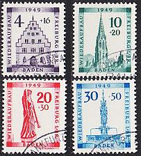 Buy GERMANY Alliiert Franz. Zone [Baden] MiNr 0038-41 A ( O/used )