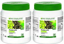 Buy 2 Peice AMWAY NUTRILITE PROTEIN WITH GREEN TEA 500 Gram EMS Service