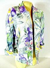 Buy ALFRED DUNNER womens Sz 8 3/4 sleeve purple white green RAYON lined jacket (C5)