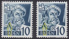 Buy GERMANY Alliiert Franz. Zone [Baden] MiNr 0003 yv I,II ( **/mnh )