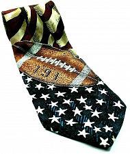 Buy Americana All American Football American Flag Stars Stripes Silk Novelty Necktie