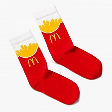 Buy New Mcdonald World Famous Fries Socks One Size Fits most Fast Free Shipping