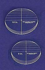 "Buy 2 Piece Circle Set - No Seam 9"" - 10"" ~ 1/4"" Thick - Long Arm -Multi Use"
