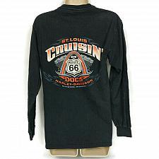 Buy Harley Davidson Cruisin St Louis Doc's Route 66 T-Shirt Black Small Long Sleeve