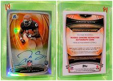 Buy NFL Jerome Smith Autographed 2014 Bowman Chrome Rookie Refractor Mint