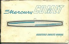 Buy 1966 Mercury Comet Original Owners Manual Canadian Classic Car