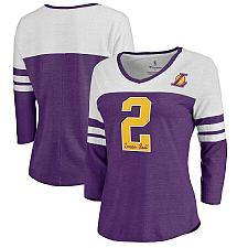 Buy Women's Los Angeles Lakers Lonzo Ball Fanatics Branded Purple Starstruck Name &
