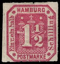 Buy Germany-Hamburg #25R Coat of Arms - Reprint; Unused (1Stars) |HAM25R-01XRP