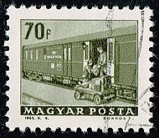 Buy Hungary #1513 Railroad Mail Car; CTO (4Stars) |HUN1513-02