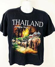 Buy Thailand Jungle Tour Men's T-Shirt Size Large Graphic Short Sleeve Black