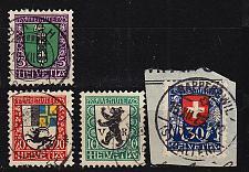 Buy SCHWEIZ SWITZERLAND [1925] MiNr 0214-17 ( O/used ) [01] Pro Juventute