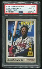 Buy 2019 TOPPS HERITAGE FRENCH TEXT RONALD ACUNA JR. #500 PSA 10 GEM MINT (46067091)
