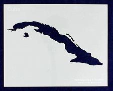 "Buy Cuba Stencil 14 Mil 8"" X 10"" Painting /Crafts/ Templates"