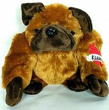 "Buy Dan Dee Collectors Choice Bull Dog Plush Heart Tattoo Stuffed Animal 10.5"""