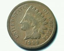 Buy 1909 INDIAN CENT PENNY GOOD G NICE ORIGINAL COIN FROM BOBS COINS FAST SHIPMENT