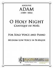 Buy Adam - O Holy Night / Cantique de Noel for Medium Low Voice in Bb Major