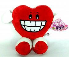 "Buy NWT Valentine Red Heart Smiling Grinning Teeth Plush Stuffed Animal 2013 10"""
