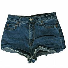 Buy Levis Womens Perfectly Slimming 512 Cutoff Denim Booty Shorts 8M Solid Blue
