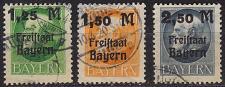 Buy GERMANY Bayern Bavaria [1919] MiNr 0174-76 A ( O/used )