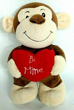 Buy Animal Adventure Valentine Heart Be Mine Brown Monkey Ape Plush 2016 9""