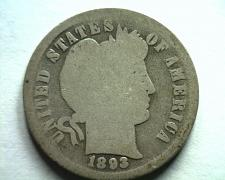 Buy 1893 BARBER DIME GOOD G NICE ORIGINAL COIN FROM BOBS COINS FAST SHIPMENT