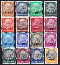 Buy GERMANY REICH Besetzung [Elsass] MiNr 0001-16 ( O/used ) [01]