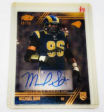 Buy NFL MICHAEL SAM ST LOUIS RAMS AUTOGRAPHED 2014 TOPPS PRIME ROOKIE SP /99 MNT