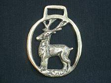 Buy Vintage Deer Horse Brass Medallion Harness Ornament