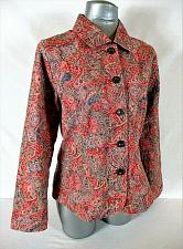 Buy ANALOGY womens Large L/S Multi color TEXTURED button down jacket (B4)
