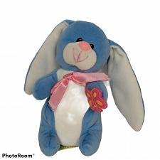 "Buy Dan Dee Collector's Choice Blue Bunny Rabbit Spring Plush Stuffed Animal 6.75"""