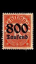 Buy GERMANY REICH Dienst [1923] MiNr 0095 Y ( **/mnh )