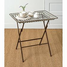 Buy Folding Table Metal Sofa Couch Coffee Tea TV Stand Serving Tray Home Decor New