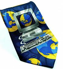 Buy Computer World Globe Internet Monitor Keyboard Nerd Geek Novelty Tie