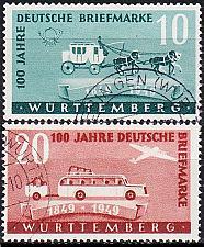 Buy GERMANY Alliiert Franz. Zone [Württemberg] MiNr 0049-50 ( O/used )