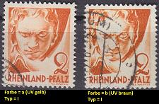 Buy GERMANY Alliiert Franz. Zone [RheinlPfalz] MiNr 0032 y a,b I ( O/used ) [01]