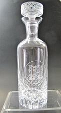 "Buy Hand Cut glass decanter hand polished 24% lead crystal custom ""H"""
