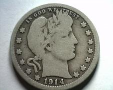 Buy 1914 BARBER QUARTER DOLLAR VERY GOOD VG NICE ORIGINAL COIN BOBS COIN FAST SHIP