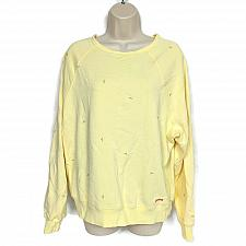 Buy Peace Love World Embroidered French Terry Sweatshirt Size XS Yellow Floral