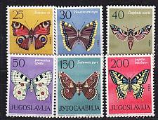 Buy JUGOSLAVIA [1964] MiNr 1069-74 ( **/mnh ) Schmetterlinge