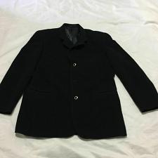 Buy GIBO 100% Wool blazer coat men size 52 Black