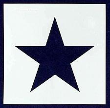 "Buy Single Star Stencil 14 Mil -9.5"" X 9.5"" Overall"