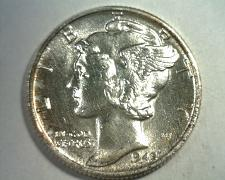 Buy 1945 MERCURY DIME UNCIRCULATED UNC. NICE COLOR / TONING NICE ORIGINAL COIN
