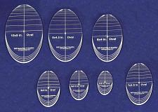 "Buy Oval Quilt Templates 7 Piece Set. 4""-10"" - Multi Purpose 1/4"""