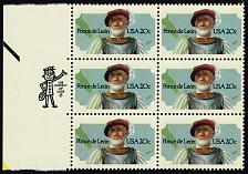 Buy US #2024 Ponce de Leon Zip Block of 6; MNH (2.40) (5Stars) |USA2024-10