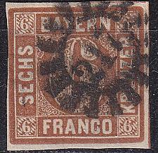 Buy GERMANY Bayern Bavaria [1850] MiNr 0004 II ( O/used ) [03]
