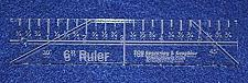 """Buy 6"""" Ruler - 1/4"""" thick. Quilting/Sewing Clear Acrylic - Quilting/sewing"""