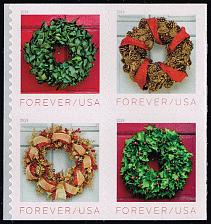 Buy US #5427a Holiday Wreaths Block of 4; MNH (4Stars) |USA5427a-02
